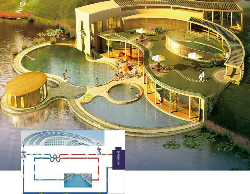 Constant temperature outdoor swimming pool